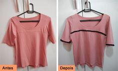 Customização de blusinhas com passamanarias: http://customizando.net/customizando-blusinhas-com-passamanarias/