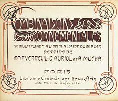 Art nouveau pattern book drawn by Alphonse Mucha and others Motifs Art Nouveau, Design Art Nouveau, Art Nouveau Pattern, Alphonse Mucha, Antique Art, Vintage Art, Arte Art Deco, Art Nouveau Illustration, Jugendstil Design