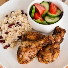 Low Syn Jamaican Jerk Chicken with Rice and Peas