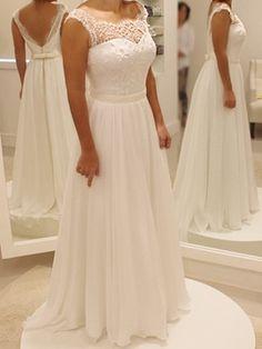 Ericdress Casual una línea de Gasa Playa Vestido de novia