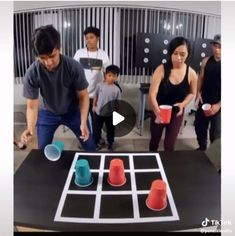 Family playing the tic tac toe table game flip cup tic tac toe tic tac toe hack tic tac toe craft tic tac toe sporting game. New Year's Games, Youth Games, Games For Teens, Adult Games, Fun Games For Adults, Adult Party Games Funny, Fun Games For Girls, Birthday Games For Adults, Cup Games
