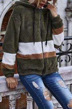 Fashion Streetwear fleece coats and jackets women Autumn 2020 New Winter Hooded Splicing Zip-up Jacket coats and jackets women - #coatsforwomen #coatsforwomenwinter #coatsforwomencasual #coatsforwomenclassy #coatsforwomenclassyelegant #coatsjackets #coatsjacketswomen #coatsforwomen2020 #coatsforwomen2020fashiontrends #streettide Coats For Women, Jackets For Women, Streetwear Fashion, Zip Ups, Street Wear, Pullover, Hoodies, Long Sleeve, Casual