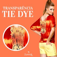 Blusa Zunnck laranja em tie dye