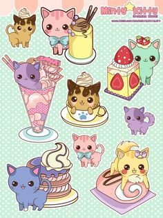 Cats and Cakes stickers
