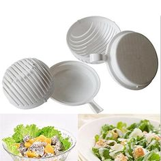 diy salad tools fruit bowl vegetable slicer cutter cleaner Plastic Chopper food container kitchen accessories fast. Click visit to buy #dinnerware