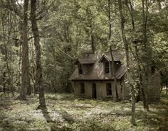 What the people didn't know about the old witches house was that it wasn't an evil shack in the middle of the woods.  It was once someone's home, where love had filled all the empty cracks.