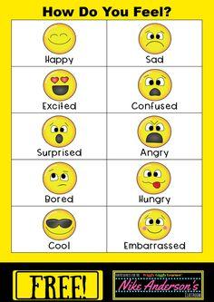 Thorough Feelings Chart To Print Feelings Chart Worksheets Feelings Preschool, Preschool Charts, Feelings Activities, Feelings Chart, Feelings And Emotions, Emoji Chart, Calm Down Kit, Free Emoji, Emotions Cards