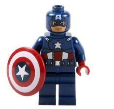 Archiwalne: LEGO Figurki Captain America Figurka Ludzik Super Heroes Avengers…