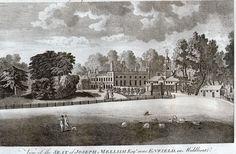 Bush Hill Park, Enfield, Middlesex - Seat of Joseph Mellish - Engraving - c1785
