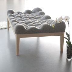this day bed by young designer Stefanie Schissler is intentionally lumpy to encourage users to snuggle into it