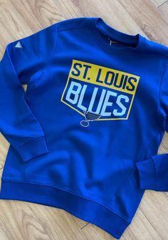 Levelwear St Louis Blues Mens Blue Zane Team Shield Long Sleeve Sweatshirt - 20820606 Great Books, St Louis, Blues, Shirts, Shopping, Collection, Dress Shirts, Shirt, Big Books