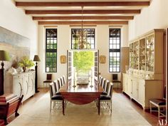 Dining Room - This Lakefront Louisiana Home Channels Cape Dutch Style Photos | Architectural Digest