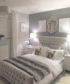 22+ Amazing Grey Wall Bedroom Color Idea For Elegant Room