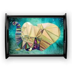 new at @CafePress : #Abstract #Elephant #Coffee #Tray A cute abstract elephant #head, decorated with #stars.  $51.69