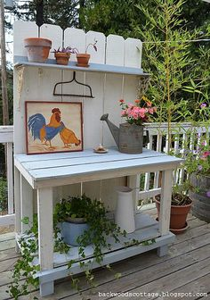 Love this potting bench.
