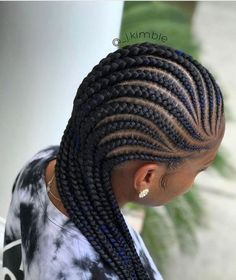 Black and Blue Cornrows | African Hair Braiding Styles For Any Season