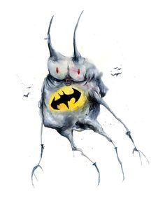 Freaky Superhero Art: Batman
