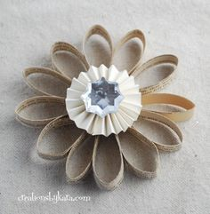 Cute ornament using pages from a book!