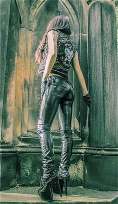 That leather vest!