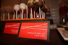 A great personal touch to a sweets table...signs matched the invitations.