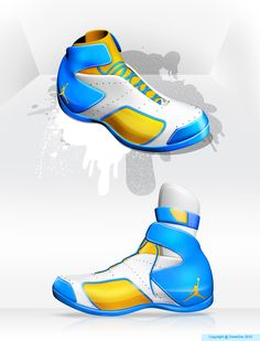 Jordan concept sneakers   With attachable ankle braces #shoes