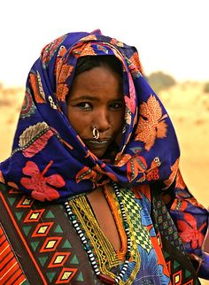 Africa |  Portrait of a woman photographed in Chad | Photographer ?