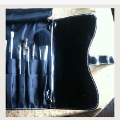 MAC BRUSH CLUTCH/COSMETIC BAG SALE!🎉 Neatly holds all your cosmetic brushes in one place! MAC BRUSH CLUTCH DESIGNED BY MATT MURPHY. Fold over fabric cover to place over brushes, 2 zippered compartments. Velcros shut to hold everything in one nice packet. Preowned in good condition. There are some scuffs on outside and on MAC logo. Inside is very clean and in near new condition. No box 100% authentic . BRUSHES PICTURED NOT INCLUDED. Bundle and Save❤️ MAC Cosmetics Makeup Brushes & Tools