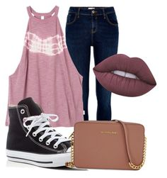 """""""Untitled #5"""" by rwaldrep ❤ liked on Polyvore featuring River Island, RVCA, Converse, Michael Kors and Lime Crime"""