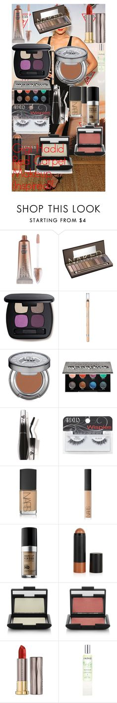 """""""Gigi Hadid Red Carpet Makeup (Inspired)!"""" by oroartye-1 on Polyvore featuring beauty, Urban Decay, Bare Escentuals, Rimmel, Lancôme, Ardell, NARS Cosmetics, MAKE UP FOR EVER, Topshop and Caudalíe"""
