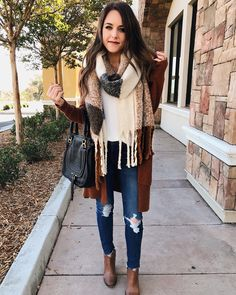 Up on the blog, outfit ideas with scarves under $50! #fashion #scarves #style #SomethingBeautiful