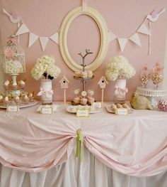 pink bird girl baby shower - love this for a birthday and either lavender or a robin's egg blue with white, not pink