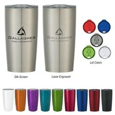 Custom Stainless Steel Drinkware has been the rage this year in Promotional Products.  Let's review a couple of popular styles that would make great custom gifts for your clients or employees this holiday season.