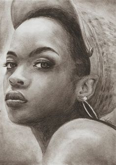 Looks like Lauryn Hill Lauryn Hill, African American Art, African Art, Amazing Drawings, Amazing Art, Awesome, Prismacolor, Natural Hair Art, Black Artwork