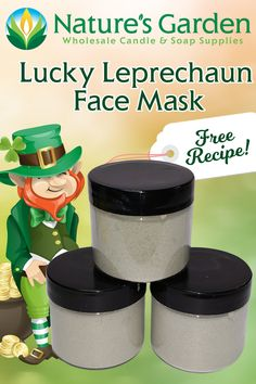 Free Lucky Leprechaun Face Mask Recipe by Natures Garden