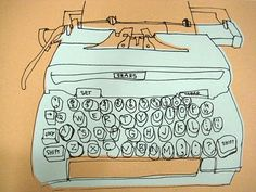 illustrated {vintage typewriter}