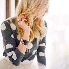 Celyn Wool Polka Dot Sweater - Alice + Olivia