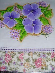 Lili e a Arte: Pintura em Tecido: Flores Lilás