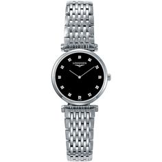 Longines Stainless Steel Bracelet Watch (£1,135) ❤ liked on Polyvore featuring jewelry, watches, silver, bezel jewelry, bezel watches, stainless steel watch bracelet, stainless steel wrist watch and longines