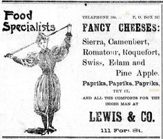 Cheese galore!  Lewis & Co. advertisement from newspaper published in Hawaii July 9, 1896