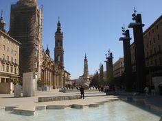 Zaragoza - Fuente de la Hispanidad, Plaza del Pilar.