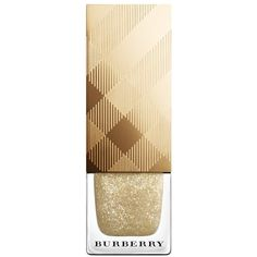 Burberry Nail Polish - Festive Gold No.449 (1.560 RUB) ❤ liked on Polyvore featuring beauty products, nail care, nail polish, nails, beauty, burberry, makeup, gold nail polish, formaldehyde free nail polish and shimmer nail polish