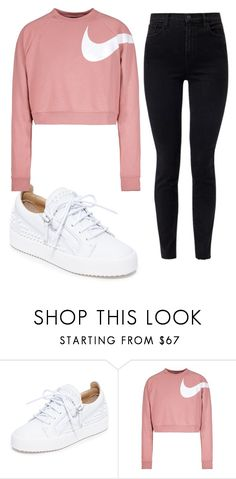 """days"" by juliadb on Polyvore featuring Giuseppe Zanotti, NIKE and J Brand"