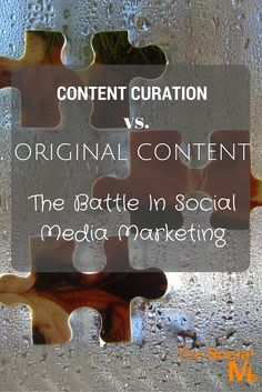 You need to understand the difference between using other people's content (Content Curation) and creating your original content.