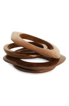 wooden bangles bracelets. Nordstrom $28