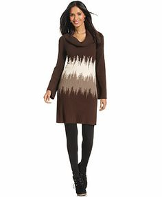 Style&co. Petite Dress, Long-Sleeve Ribbed-Knit Sweaterdress