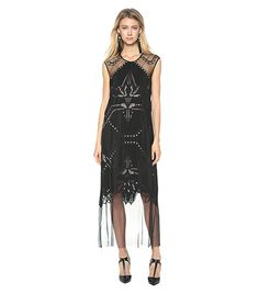 Sheer bottom skirts are a holiday trend