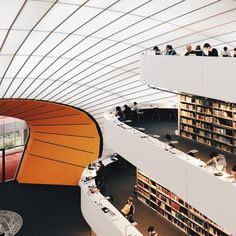 Experience the Beauty of Libraries Around the World Through This Instagram Series,Freie Universität Library, Berlin. Image © Olivier Martel Savoie, @une_olive