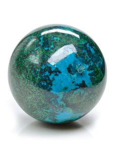 New Chrysocolla Spheres just added. See more here: http://www.exquisitecrystals.com/minerals/chrysocolla