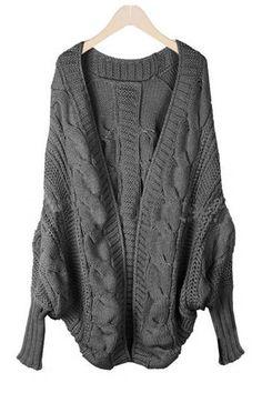 modele tricot gilet manche chauve souris