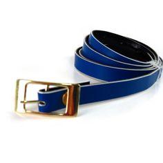 Cinto Feminino Fino Reversível Azul